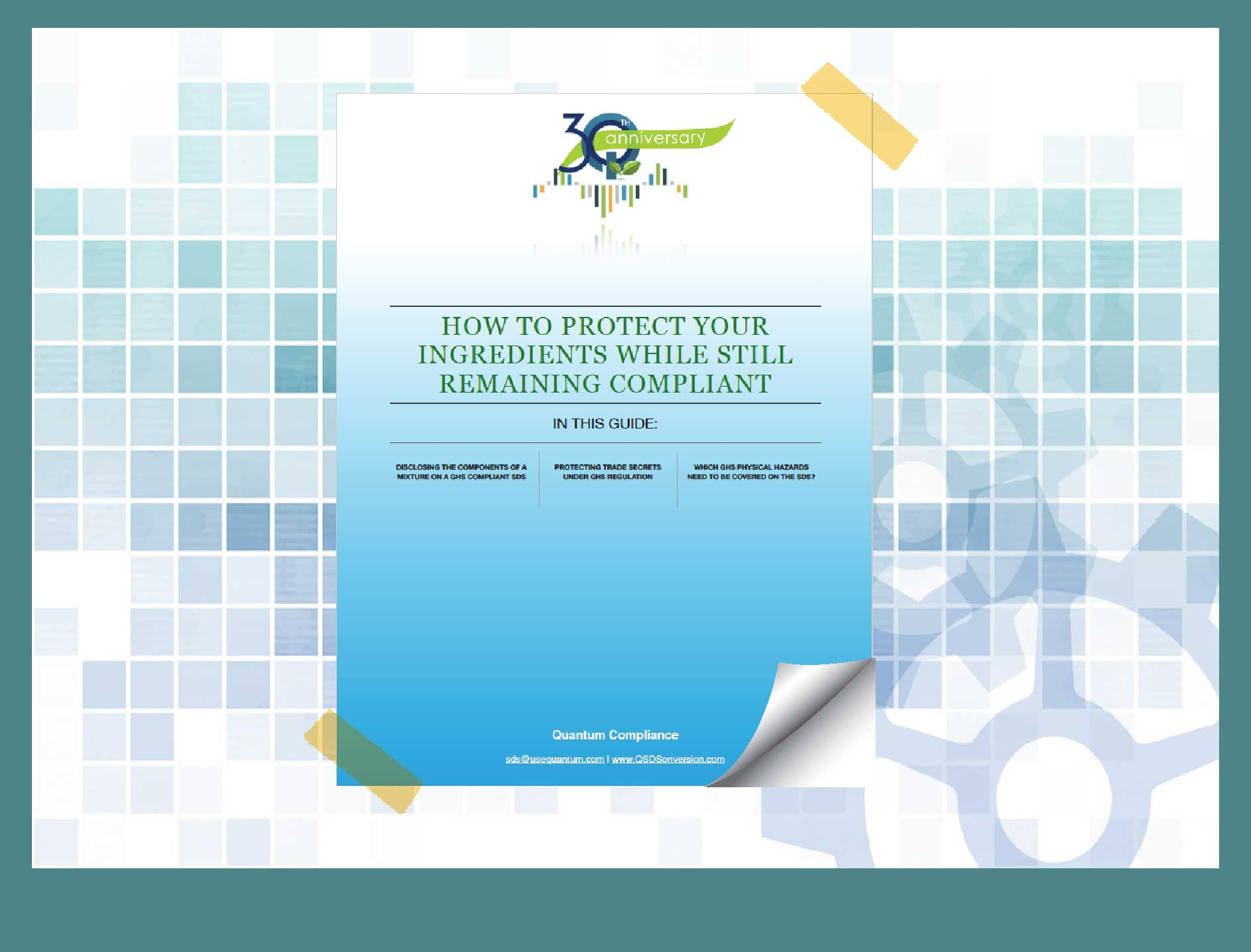 Cover to How to Protect Your Ingredients While Still Remaining Compliant Guide