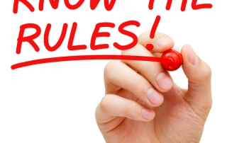 Handwritten text: Know the OSHA Rules