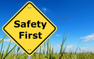 Safety First yellow diamond