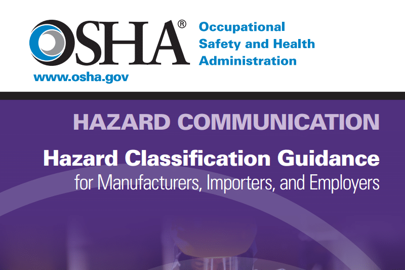 OSHA Releases Hazard Classification Guide
