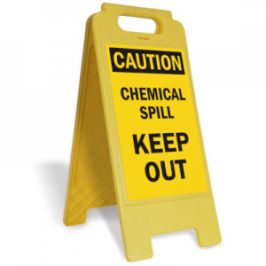 how to clean a chemical spill in pest management