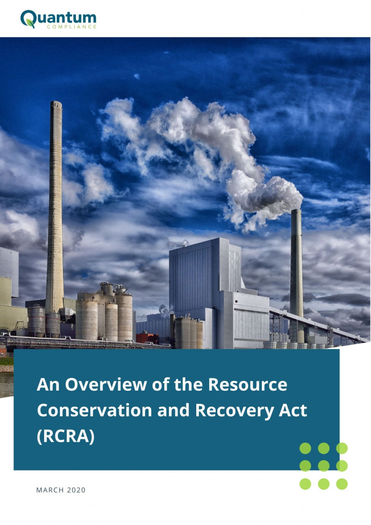 An Overview of the Resource Conservation and Recovery Act (RCRA) 2020